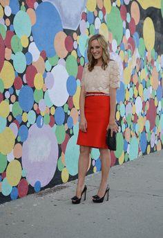 Red pencil skirt #fashion #trends #pencilskirt