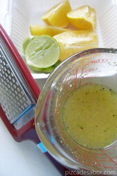 Brochetas de camarón con marinada de cítricos - Pizca de Sabor