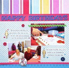 Happy Birthdays - Scrapbook.com - Made with American Crafts supplies.
