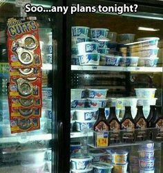 Plans tonight. Well played random grocery store.