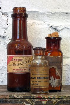Amber Pharmacy Bottles