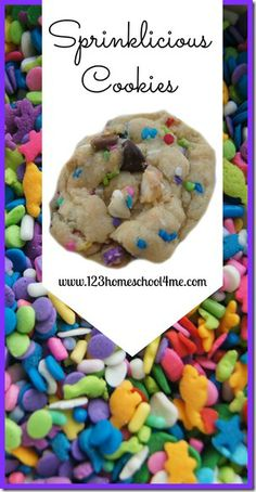 These Sprinkilicious Cookies are as delicious as they are pretty. Kids love the sprinkles in this great cookie recipe! #cookies #foodforkids