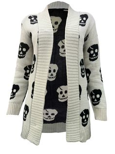 Skull knitted cardigan