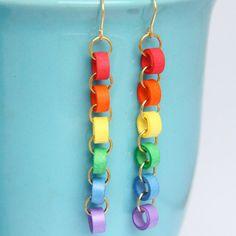 Paper chain... orecchini fai da te con la tecnica quilling