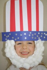 holiday, fourth of july, memorial day preschool crafts, 4th of july, sam craft, uncl sam, juli, craft ideas, kid