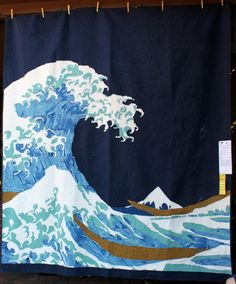 Under the Waves by Malleva Abenes.  2014 Sisters Outdoor Quilt show.  Photo by Wombat Quilts.