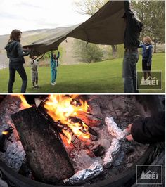REI tells about camping with the family. Free downloadable Kids Adventure Journal. May have ideas for camping birthday party