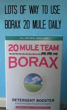 Lots of Way to Use Borax 20 Mule Daily