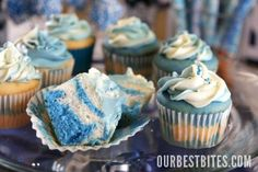 #Baby #Boy #Shower #Cupcakes
