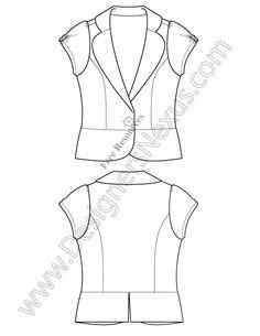 V53 Free Illustrator Blazer Flat Sketch - free download in Adobe Illustrator or high-quality bitmap format at www.designersnexus.com #fashionflats #flatsketch #fashionCAD #technicalflats #flatdrawing #fashionsketch