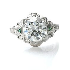 This is an amazing circa 1920s engagement ring... pay attention, non-existent boyfriend.