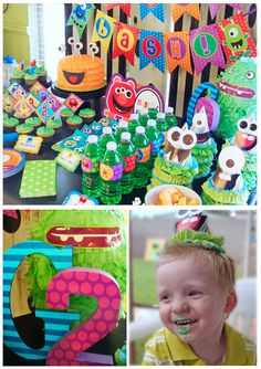 Monster Party Birthday -  Amanda's Parties TO GO. monster printables