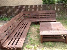 DIY Pallet Sectional Sofa and Table Ideas | Pallet Furniture Plans