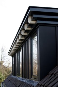 Dakkapel - dormer - black - white - details - craftsmanship - zinc - exterior - restoration - extension By Studio 2 stripeS, the Netherlands