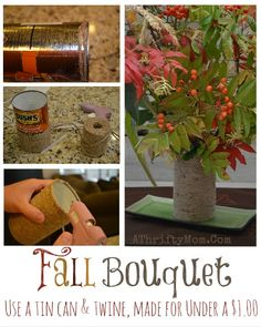 Fall flower vase mad