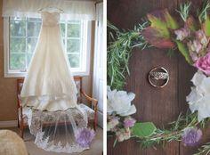 Wedding: Matt   Emily | Langton, Ontario | Vintage rustic wedding ring photos homemade wedding dress