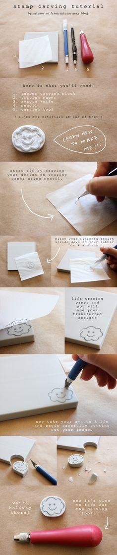 http://cargocollective.com/minnaso/diy-hand-carved-stamp-tutorial