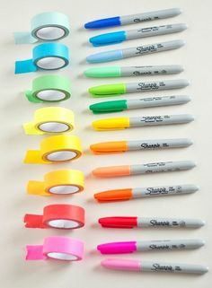 washi tape for every shade of sharpie! | #office