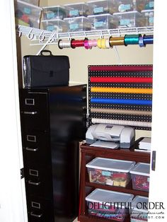 Delightful Order: Craft Room Closet