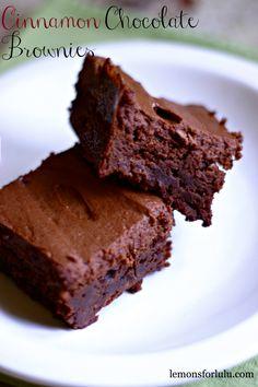 Cinnamon Chocolate Brownies @lemonsforlulu.com  #brownies  #cinnamon
