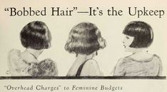 To bob or not to bob hair – The major dilemma facing women in 1924 -#Downton #Fashion #Era