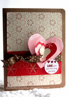 De Stampin' Corner: Love You The Way You Are Valentine Card