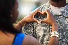 Military couple session