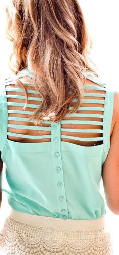 Open striped back.