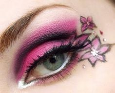 Pink eye makeup with flowers    Google Image Result for http://www.makeupstyleideas.com/wp-content/uploads/2011/01/prom-makeup-2011-1.jpg