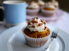 Bacon and Maple Syrup Muffins with Earl Grey Cream