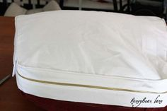 How to Make a Slip Cover for a Camper Cushion!