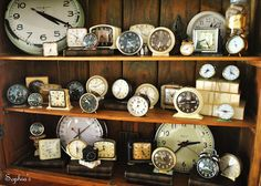 Amazing clock collection ! (from Sophia's Decor)