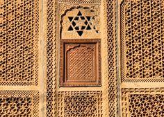 Stone screen, Jaisalmer, Rajasthan, India.