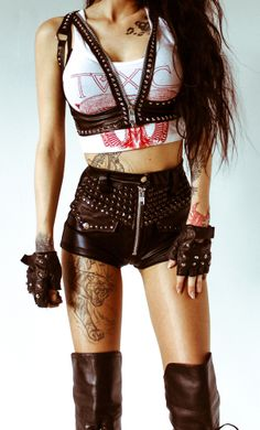 TOXIC VISION studded harness top