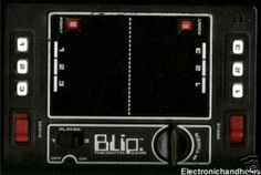 Blip. One of the earliest electronic handheld games from late 70's.