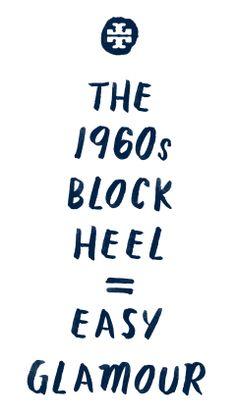 The 1960s Block Heel =  Easy Glamour