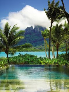 Your honeymoon gets an extra dose of heavenly at @Four Seasons Resort Bora Bora. Why leave your private pool?