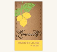 Limoncello Labels Adhesive by OWLandTOAD on Etsy, $20.00