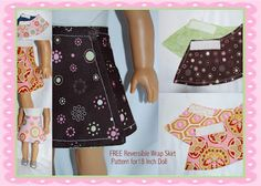 Several free patterns for American Girl clothes