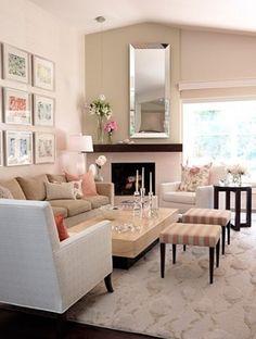 beige living room ideas | Living Room, Inspiring Beige Living Room Designs White Carpet: 10 ...