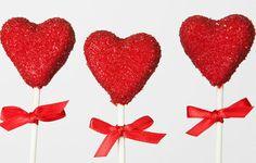 Sugar Red Heart Cake Pops