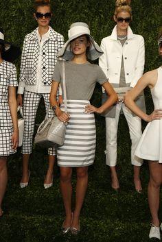 Stripes @ the Kate Spade show! Gorgeous!