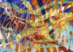 Gerhard Richter Watercolour, wax crayon and gouache