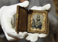 Private Thomas W. Timberlake of Co. G, 2nd Virginia Infantry found this child's portrait on the battlefield of Port Republic, Virginia, between the bodies of a Confederate soldier and a Federal soldier