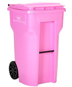 Pink trash cans to support Breast Cancer Awareness  http://www.joytolife.org/store.php?p=trash_can