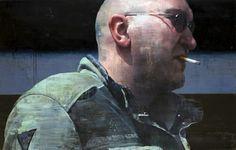 """François Bard, Après l'horizon, 2013, Oil on Canvas, 47"""" x 74¾"""" #Art #BDG #BDGNY #Contemporary #Painting #Portrait"""
