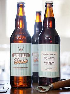 Customized Labels for Bachelor & Bachelorette Party Brews