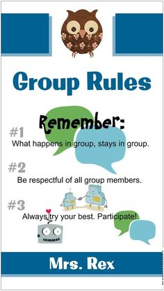 """""""Group Rules"""" banner"""