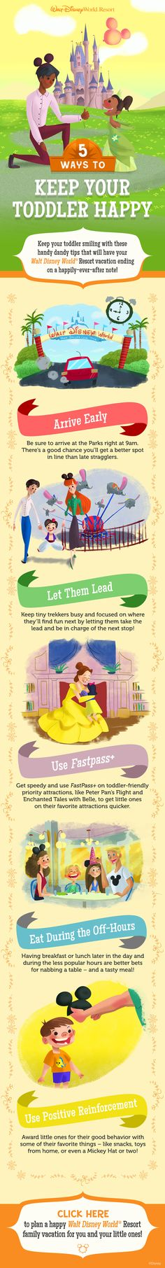 5 ways to keep your toddler happy at Walt Disney World! #vacation #parenting #tips