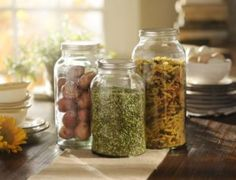 Glass Mason Jar, Set of 3 #kirklands #FrenchCountryDining #masonjar